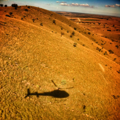 copter shadow