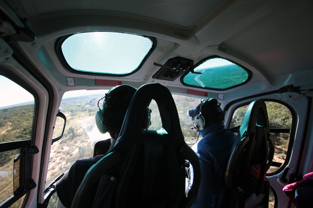 front seat of copter