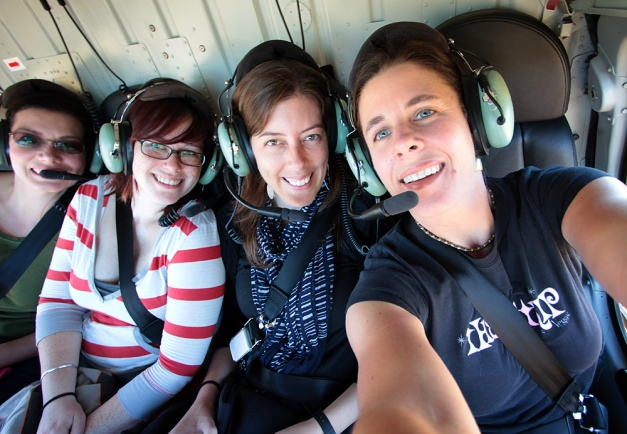 girls in copter