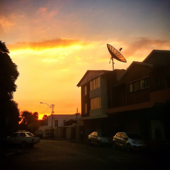 Norwood - sunset from Stage Door