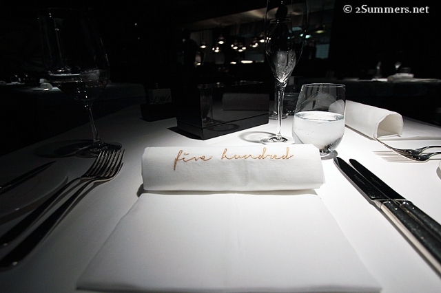 Five Hundred napkin